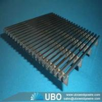 Buy cheap Wedge v wire flat grids screen panel used for industry filtration product