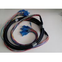 Buy cheap Outdoor 3mm Single Mode And Multimode Fiber Optic Cable Patch Cord 6 Core product
