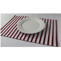 100% Cotton Red And White Striped Placemats Dining Room Table Mats 250gsm