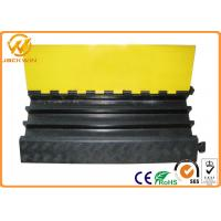 Buy cheap Heavy Duty Rubber Yellow Jacket Cable Covers 3 Channels 900 x 500 * 75 mm 17kg Weight from Wholesalers