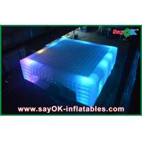 China OEM Led Cube Giant Inflatable Air Tent For Fairs , 14 X 14m on sale