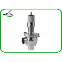 Buy cheap Butt Weld Sanitary Pressure Relief Valve with Spring Return Configuration , Slight Opening product