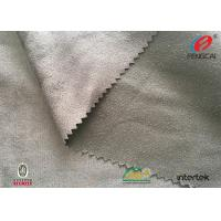Buy cheap Warp Knitting Microfiber Suede Upholstery Fabric , Silver Poly Suede Fabric product
