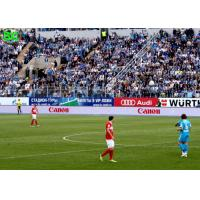 Buy cheap High resolution bright thin  full color P10 Football stadium LED display product