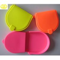 Buy cheap Girls Yellow Cute Silicone Coin Pouch / Silicone Coin Case Money Bag product