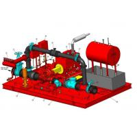 Buy cheap UL / FM Horizontal Split Case Pump Assembly Skid Mounted Fire Pump Package product
