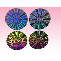 Buy cheap custom round hologram sticker holographic sticker label for sale manufacturer product