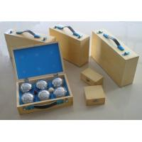Buy cheap boules/petanque wooden box,can be print/hot stamping logo,wholesale boule,retail petanque product