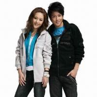 China Men's Coat/Ladies' and Gentleman Long Summer Coats, Made of 100% Polyester on sale