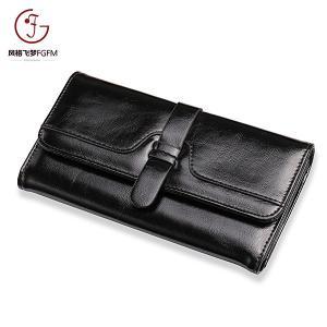 Factory cheap price PU Leather lady purse fashion stitching bifold long wallets