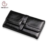 Quality Factory cheap price PU Leather lady purse fashion stitching bifold long wallets for sale