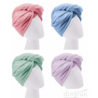 Buy cheap Custom Wholesale Fast Dry Absorbent Wrapped Twist Microfiber Hair Turban Towel with Buttons product