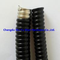 "Buy cheap 1/2"" black corrugated PVC covered stainless steel 304 flexible conduit product"