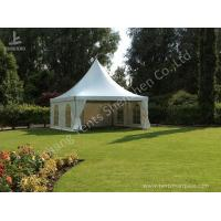 Buy cheap Out side 4M Width French Style High Peak Frame Tent Transparent PVC Windows from Wholesalers
