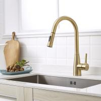 Buy cheap Lead free material Modern commercial pull out Black flexible hose for kitchen faucet product