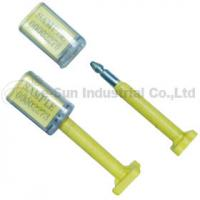 Buy cheap Custom Container Security Seals / Container Bolt Seal With Bar Code Printed from Wholesalers