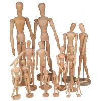 Buy cheap Full Size Wooden Human Mannequin / Figure , Wooden Drawing Doll For School product