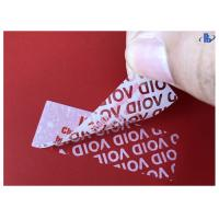 China Waterproof PET Acrylic Adhesive Tamper Evident Void Labels on sale