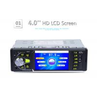 Buy cheap Single Din 4 Inch Touch Screen Car Stereo Black With Radio Bluetooth product