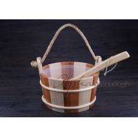 Buy cheap Smoothy Carved  Sauna  Pail Bucket and Spoon Set with Liner For Dry Sauna Room Accessories from Wholesalers