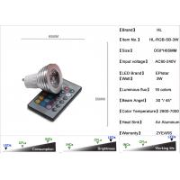 China 3W RGB Led Light Bulb With 16 colors With Remote control / HL-RGB-SB-3W on sale