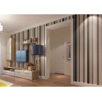 Commercial Contemporary Wall Coverings With Wide And Narrow Stripes , PVC Wallpaper