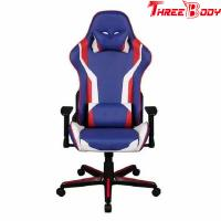 Buy cheap Mobile Comfortable Computer Gaming Chair , Blue PU Leather Racing Seat Desk Chair product