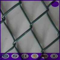 China Hot Used in Australia Beautiful PVC Coated 55*55mm Chain Link Fence on sale