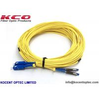 Quality Low Insertion Loss Fibre Optic Patch Cable MU SM DX 2.0mm G657A1 LSZH Yellow Color for sale