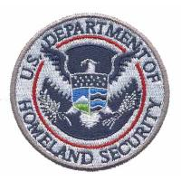 Buy cheap Custom Embroidery patch Emblem U.S. Department of Homeland Security Eagle WDT11201 product