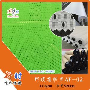 115 gsm hole mesh falg fabric, eyelet mesh fabric, direct printing flag fabric