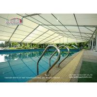 Buy cheap Aluminum and pvc tent large clear span sports tent for swimming pool, big event sports tent hall, swimming tent hall product