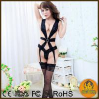 Buy cheap Sexy Lingerie Black PVC Dress Underwear Sexy product
