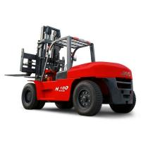 Buy cheap JAC 10 Ton Diesel Forklift , Large Capacity Counterbalance Forklifts , Heavy Equipment Forklift , Red Or Orange Color product