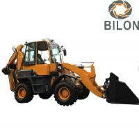 China Hydraulic Pilot Joystick Caterpillar Backhoe Loader With 0.2M3 Excavating Bucket on sale