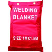 China Fiberglass Welding Blanket and cover , 0.8mm thickness fireproof welding blanket on sale