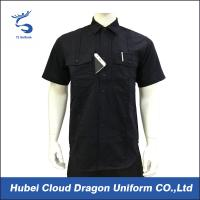Buy cheap Custom Design Black Security Guard Shirts , Tactical Work Shirt For Duty product