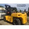 komatsu used 15ton fd150 diesel forklift , industrial 15t forklift for sale
