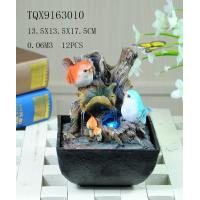 Buy cheap Bird On Bush Resin Small Outdoor Water Fountains With Circling Water Highlight product