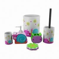 Buy cheap Hand-painted Polyresin Bath Accessory Set product