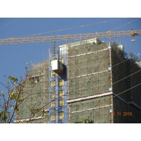 Buy cheap Temporary Rack Pinion 2000KG Per Cage Construction Site Hoist product
