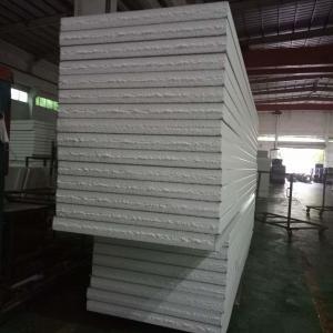 China grey white EPS sandwich waterproof wall panels 1150-100-0.376mm for prefab buildings on sale