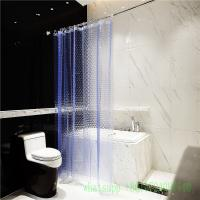 Buy cheap 6 guage blue waterproof  3d peva shower curtain with anti rust grommet hooks product