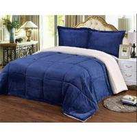 Buy cheap Polyester Solid Color Warm Flannel Plush Blanket Super Soft King Size / Queen Size product