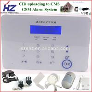 China wireless siren with door/smoke/PIR sensor house burglar alarm system on sale