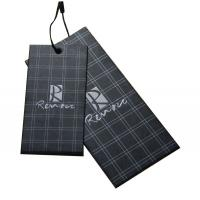 Buy cheap Classic  Personized logo black Men's Apparel Hang Tags With string product