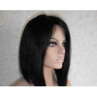 Buy cheap Professional Lace Front Human Hair Wigs 8 Inch Short Wigs product