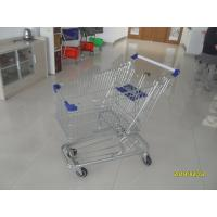 Buy cheap Low Tray 100L Supermarket Shopping Trolley European Steel With Blue Baby Seat product