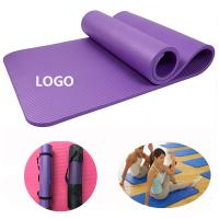 Buy cheap Promotional Yogo Mat 155*61*1cm NBR Logo Customized Fitness Supplies product