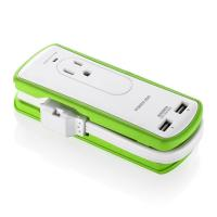 Buy cheap Compact Outdoor Leisure Products Travel Surge Protector Power Strip Dual USB Ports from Wholesalers